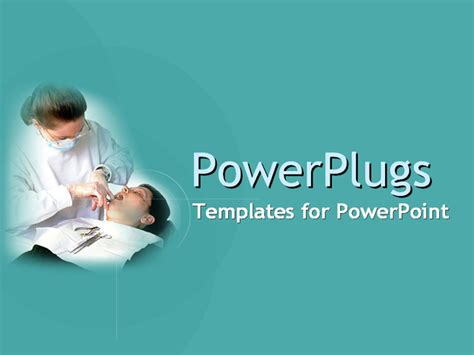 powerpoint themes dental relaxed patient and friendly dentist powerpoint template