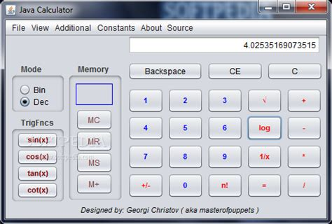 calculator java java calculator download