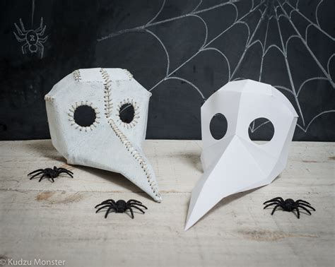 plague doctor mask template printable paper plague doctor mask vs bird mask diy