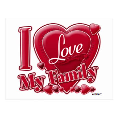 big heart love family pictures i love my family postcards zazzle co uk