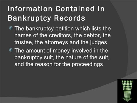 Bankruptcies Records Bankruptcy Records