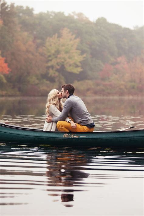 boating and canoeing near me engagement photos for the romantic at heart