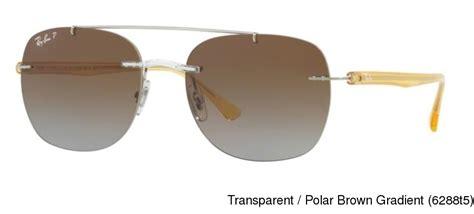 Frameless Transparent Sunglasses Brown buy ban rb4280 polarized rimless frameless