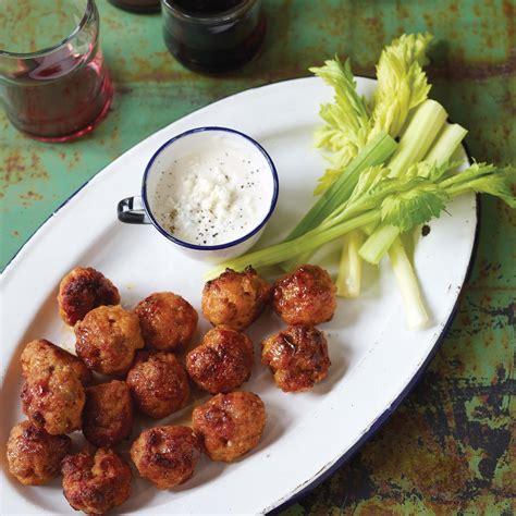 mini balls mini buffalo chicken balls recipe epicurious