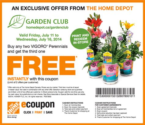 Garden Of Coupons Printable by The Home Depot Garden Club Printable Coupons Buy Any Two