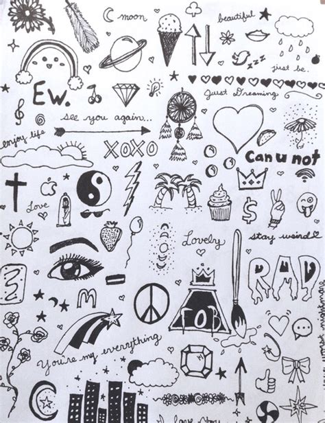 doodle drawings for sale and easy doodles when you are bored drawings