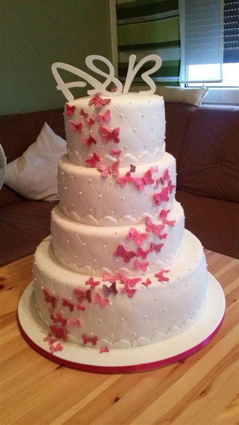 Hochzeitstorte Schmetterlinge by 171 Besten Meine Kuchen Bilder Auf