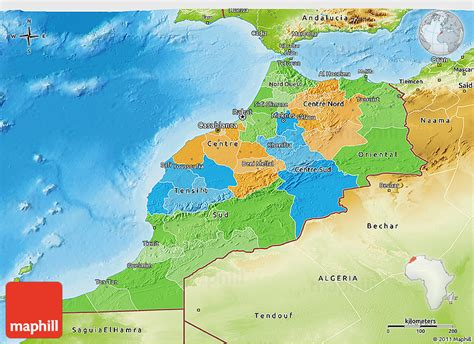 physical map of morocco political 3d map of morocco physical outside