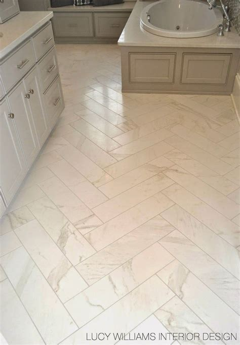 Ceramic Tile For Bathroom Floor Porcelain Floor Tile Looks Like Marble But Without The Maintenance Via Williams