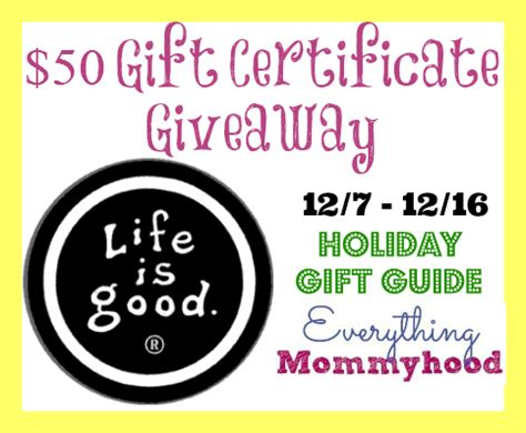 The Good Life Gift Cards - quot life is good quot 50 gift card giveaway ends 12 16 13 it s free at last