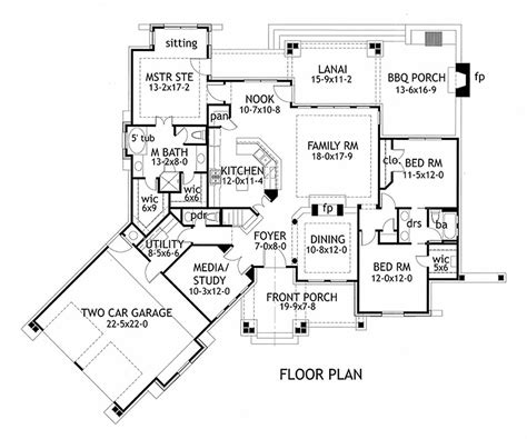 Craftsman Style House Plan   3 Beds 2.5 Baths 2091 Sq/Ft