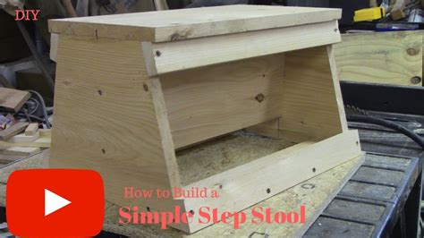Build A Simple Stool by Diy How To Build A Simple Step Stool