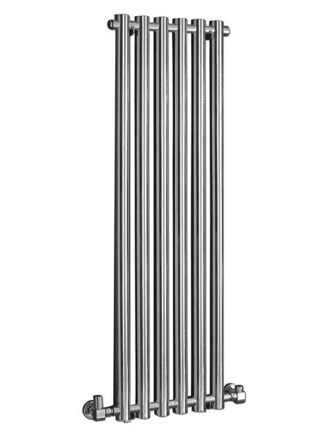 wall hung radiators modern 400 x 1600mm chrome wall mounted designer radiator
