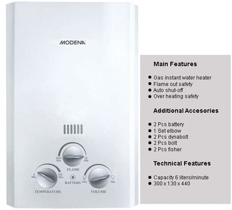 Water Heater Modena Gi 6 modena rapido gi 6