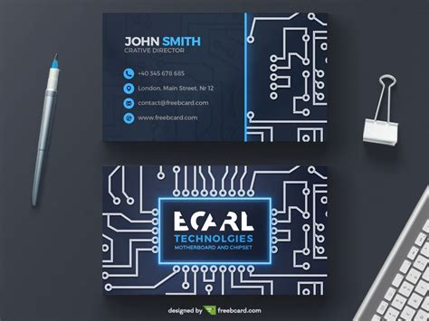 circuit board business card template technological circuit business card template freebcard