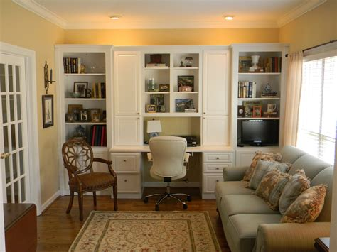 home office in living room positively southern living room office with built in cabinets