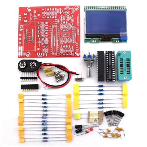 transistor upgrades electronic kit circuit board m12864 graphics version transistor tester encoder switch