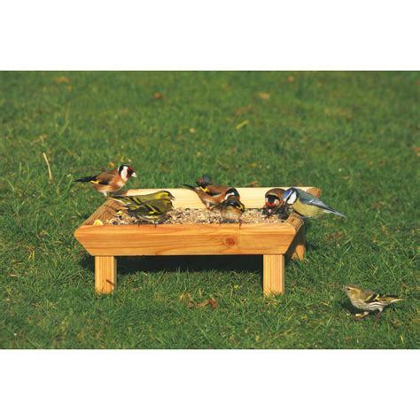 cj wildbird foods square wild bird feeding table ground