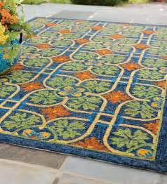 Rugs For Outdoors Talavera Tile Indoor Outdoor Rug 8 X 10 Indoor Outdoor Rugs