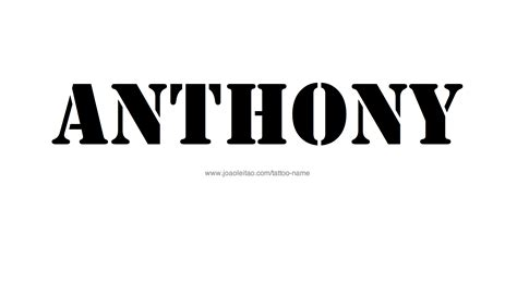 anthony tattoo designs anthony name images search
