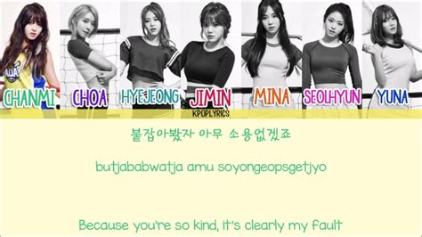 aoa one thing eng subromanizedhangul album attack aoa one thing eng rom han picture color coded hd