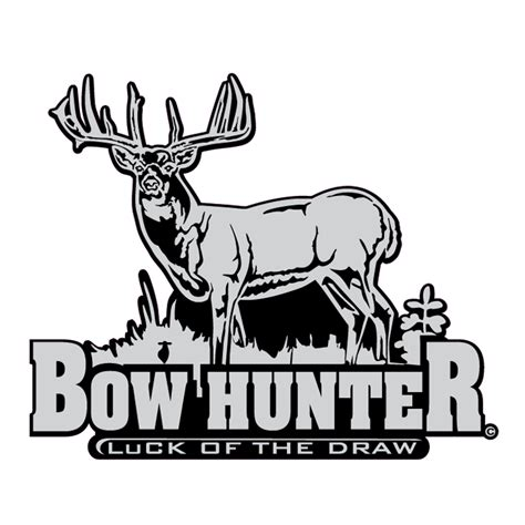 Bowhunter Luck of the Draw Whitetail Decal Whitetail Buck Drawings