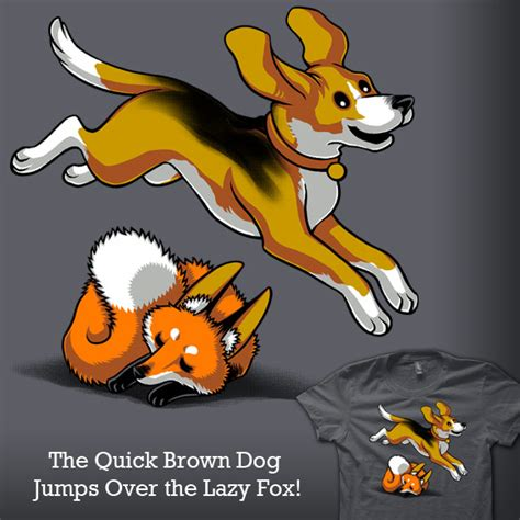 the brown fox jumps the lazy shirt woot