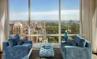 New York Appartment by Surplus Seating Area With Central Park And City Backdrop