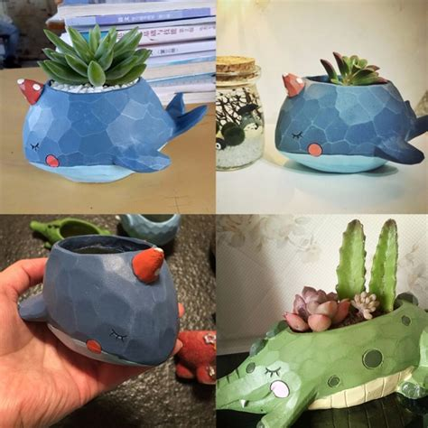 lovely home garden office resin cartoon animal shaped