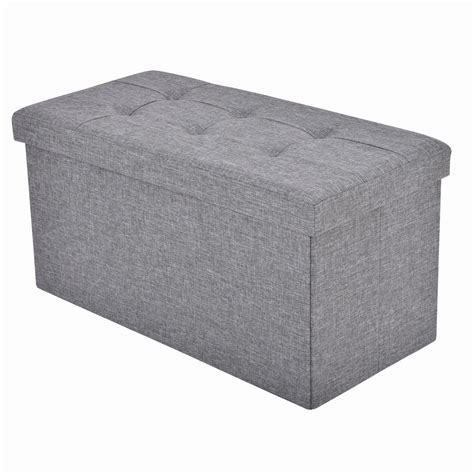 folding storage ottoman footrest stool box ottomans