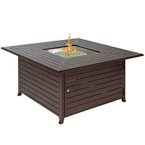 Gas Pit Table With Lid Best Choice Products Bcp Extruded Aluminum Gas Outdoor