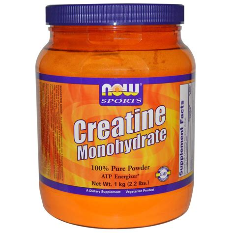 6 creatine monohydrate now foods sports creatine monohydrate 100 powder