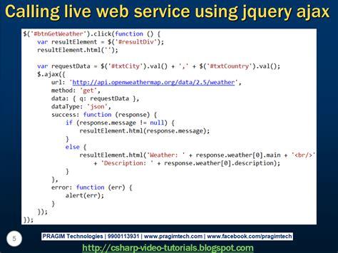 tutorial jquery ajax json sql server net and c video tutorial calling live json