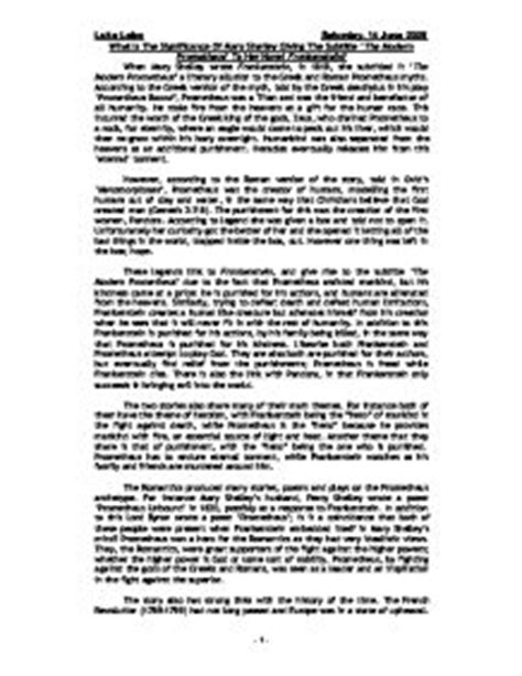 Critical Essays On Frankenstein by Frankenstein Critical Essay