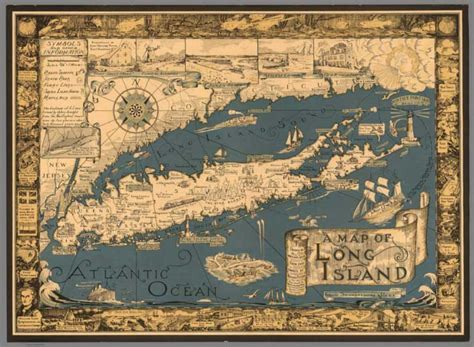 decorative artists of long island david rumsey historical map collection over 2 000