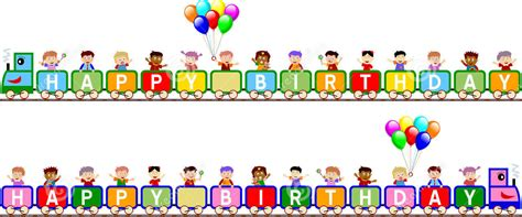 Banner Ulang Tahun 1 X 1m Free Design happy birthday words clipart 60