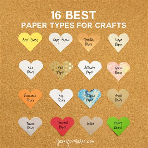 kinds of paper crafts 16 best paper types for amazing crafts maker
