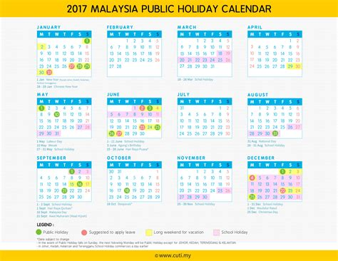 Calendar September 2017 With Holidays Malaysia Cuti My Hotel Tour Packages In Malaysia Thailand
