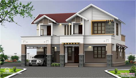 2500 sq two storey house elevation kerala home