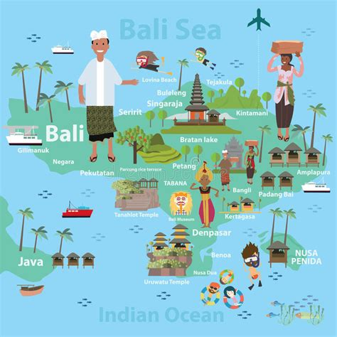 tutorial vector illustrator indonesia bali indonesia map and travel stock vector illustration
