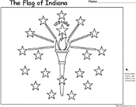 indiana state symbols coloring pages image gallery indiana state flag printable