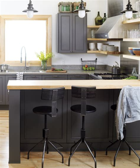 Charcoal Gray Kitchen Cabinets Charcoal Gray Cabinets Contemporary Kitchen Style At Home
