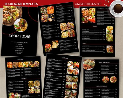 food menu layout design food menu id26 menu templates restaurant menu