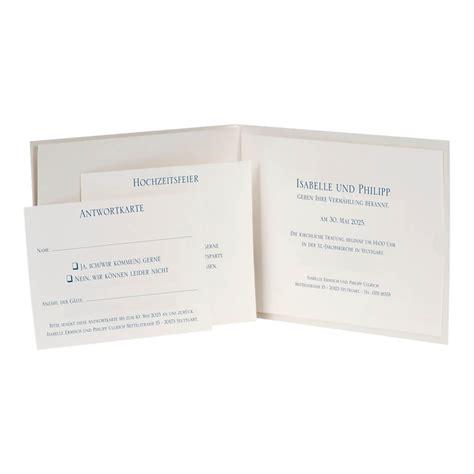 hochzeitseinladung blau hochzeitseinladung quot svantje quot blau klappkarte mit