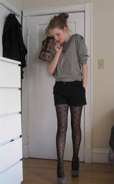 emily  hm grey jeweled sweater hm black dress