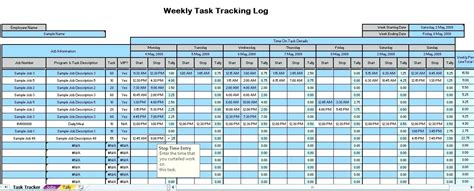 Time Tracking Spreadsheet Time Tracking Excel Template