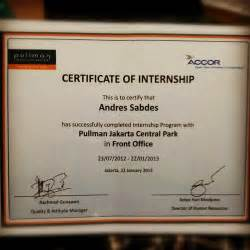 the second certificate of internship certificate trainee