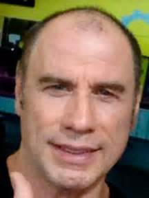 Shock pictures bald john travolta busted for wearing a wig as he goes
