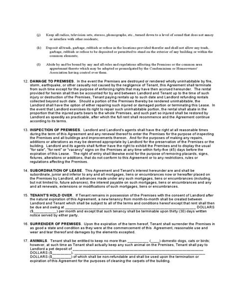 sle standard lease agreement ohio standard residential lease agreement free