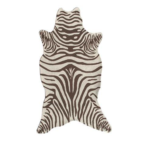 brown zebra area rug filament design zebra brown 5 ft x 8 ft indoor area rug 25255d the home depot